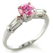 Zirconia Promise Fashion Ring Size 7 Silver Tone 0.70 Cara 00006000 t Pink Cubic