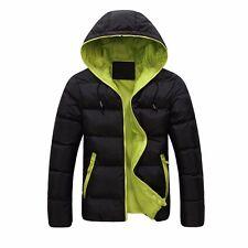 Men Winter Hooded Thick Padded Jacket Zipper Slim Outwear Coat Warm Outwear Coat