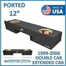 "Chevy Silverado Double cab 99-2006 12"" Dual Ported sub box subwoofer Enclosure"