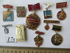 10 set lot Soviet Russian medal order award Badge USSR WWII LENIN KPSS VLKSM GTO