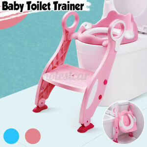 CHILDREN BABY TODDLER POTTY TRAINING TOILET SEAT TRAINER URINAL CHAIR LADDE