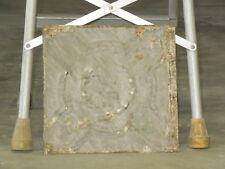 Old Antique ( Metal ) tin ceiling tile / tiles 12x12 olive wreath