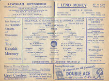 MILLWALL v SCUNTHORPE & LINDSEY UNITED (RARE) FA CUP 2ND RD, 15TH DECEMBER 1951