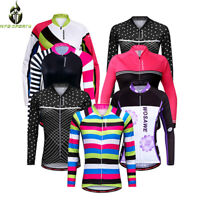 Women Ladies Cycling Jersey Long Sleeve Tops Female Sports Bike Shirt Breathable