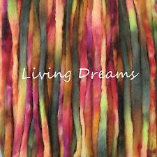 SPINNING FELTING Living Dreams PENCIL ROVING WOOL TOP FIBER hand dyed DAHLIA