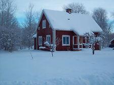 Rotes Holzhaus in Schweden Smaland Südschweden Ferienhaus mit Boot nähe See