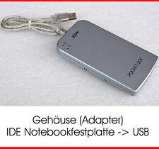 """USB EXTERNES GEHÄUSE FÜR 6,35cm 2,5"""" FP MIT STROMVERSORGUNG USB EXTERN CASE"""