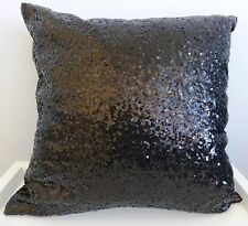 Sparkling black sequins cushion cover 45 x 45 cms