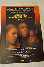 Beyonce - Destiny's Child - Concert Flyer - Personally signed by Beyonce w/ COA