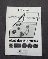 G323 - Advertising Pubblicità - 1981 - BENSI , NIENT'ALTRO CHE MUSICA-HI-FI CAR