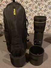 Nikon AF-S Nikkor 200-400mm 1:4 G ED VR II Lens W/ HK-30 & Bag (used)
