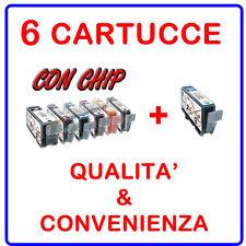 6 CARTUCCE COMPATIBILI PER CANON MULTIFUNZIONE PIXMA MP980 MP990 MP 980 990