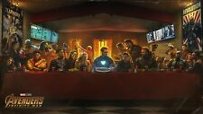 Avengers Infinity War The Last Supper Movie Poster Print T214  A4 A3 A2 A1 A0 