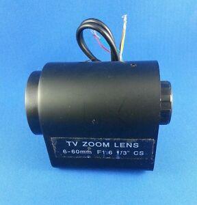 6 - 60MM 60 MM CCTV CS Zoom 3 - Motorized camera Lens