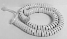 NEW 12 Foot Replacement Handset Cord for Telematrix Hotel Motel Phone - white