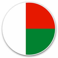 2 x Vinyl Stickers 25cm - Madagascar Flag Map Cool Gift #9058