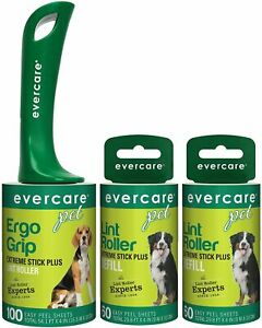 Evercare Pet Extreme Stick 100 Sheet Lint Roller with Two Extra Roller Refills