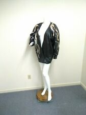 Vintage Penny Howson Black Leather Asymmetrical Batwing Jacket