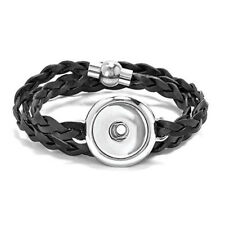 Ginger Snaps BRAIDED LEATHER WRAP BRACELET SN90-12 Interchangeable Accessory