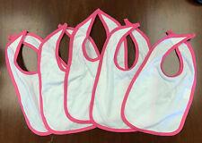 5 of Rabbit Skins Style #1004 baby bib (WHITE and Pink)