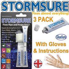 Stormsure 3X5g Flessibile Riparazione Colla Chiaro Tenda Trampolieri Strappi Fori Scarpe