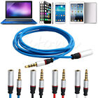 3.5mm 4Pole Male to Female M/F Plug Stereo Audio Headphone Extension Cable Cord