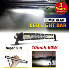 10inch 60W LED Light Bar Spot Flood Combo Work SUV Boat Offroad Driving ATV 4WD