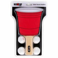 NEW- Red Cup Living Table Tennis Paddle Set w/ FREE SHIPPING