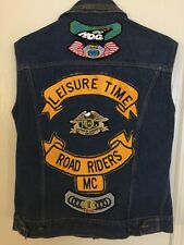 HARLEY DAVIDSON VINTAGE VEST HOG OWNERS GROUP RARE PINS PATCHES SIZE LARGE