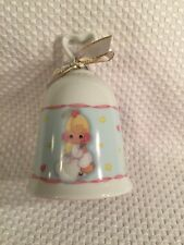 Precious Moments Porcelain Bell 2004 With Angel Hearts And Stars Adorable