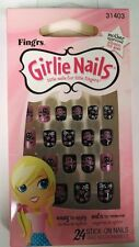 Fing'rs Girlie Nails Stick On Nails Nails for Halloween Skulls & Hearts, #31403