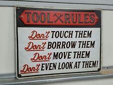 RAT FINK WARNING TOOL RULES Metal SIGNs Garage Snap On Tool Box ART TOOL Rules