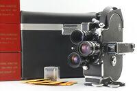MINT Bolex H16 Reflex REX-5 16mm film movie camera 12.5 25 50mm 3Lens Japan C25