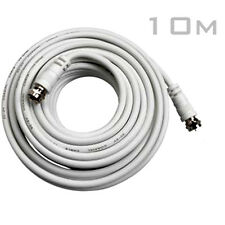 10m Coaxial Satellite Extension Lead Cable - Sky Virgin Freesat Room to Room