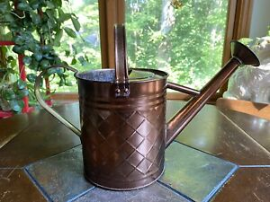 1 Gal. Brushed Bronze Metal Watering Can Indoor/Outdoor House Plant Watering Can