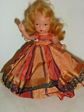 "Nancy Ann Storybook Doll  Bisque Frozen Legs Dressed w/ Stand 5-1/2"" (E9 61)"