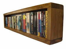 Rustic Chunky Wooden DVD, Blu-Ray, Paperback & CD Wall Storage Reclaimed Timber