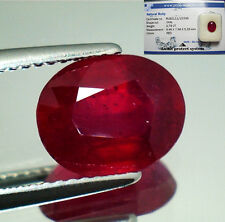 RUBINO NATURALE IN BLISTER CT. 3,79 OVALE ROSSO SANGUE - RUBY NATURAL OVAL SHAPE