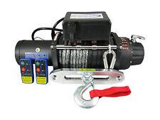 12V 14500lb Electric Winch 10mm X 30m Dyneema Rope 4WD 4x4 13000lb 12000lb