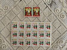"Vintage 1960 ""Sheet of 18 Christmas Seals"" + ""2 Holy Childhood Seals"", Exc.Cond"