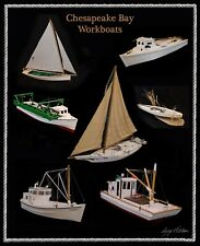 "Chesapeake Bay Workboats Version One 16x20"" Poster Print"
