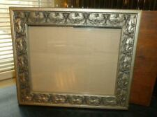 """Raised Detail Gesso Style Water Lily Silver & Black 7.5"""" X 9.5"""" Photo Wall Frame"""