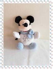 L - Doudou Peluche Mickey Boule Flocon de Neige Echarpe Disney Store