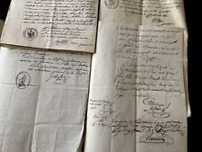 COLLECTION OF SEVEN 18th Century  Letters