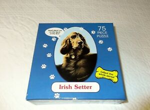 Vintage Irish Setter Schmid Dogs We Love Jigsaw Puzzle 75 Pieces 1996 New Sealed