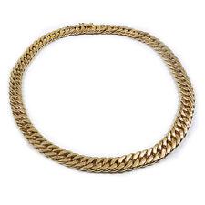 Klassisches Echtgold Collier Panzer Kette 750 18K Gold Halskette 40 cm Necklace