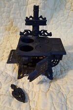Vintage QUEEN Cast Iron Miniature Coal Stove