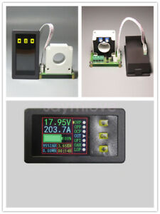 Digital DC Multimeter 0-90V 0-500A Voltmeter Ammeter Power Capacity Time Meter