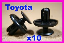 10 TOYOTA plastic Engine undercover tray clips fastener fixing 1M