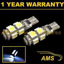 2x W5W T10 501 Can Bus Blanco Libre de Errores 9 Led Alto Nivel Freno Bombilla